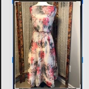 Dresses & Skirts - 50's style sheer shell floral fit and flare dress